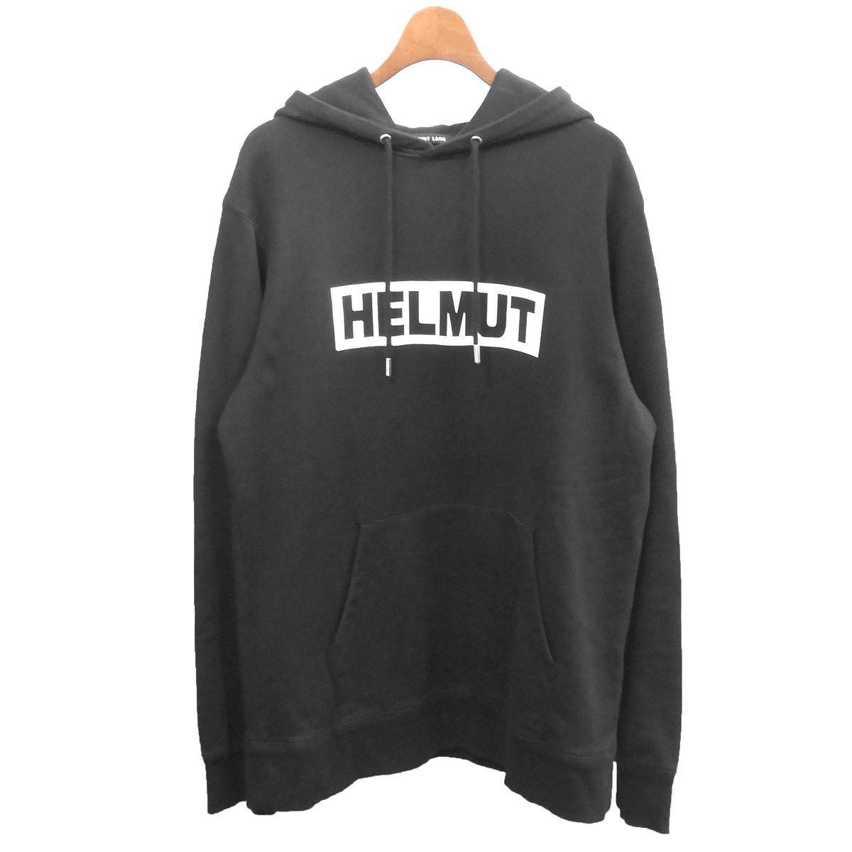 【中古】HELMUT LANG ボックスロゴパーカー ブラック サイズ:M 【211119】(ヘルムートラング)