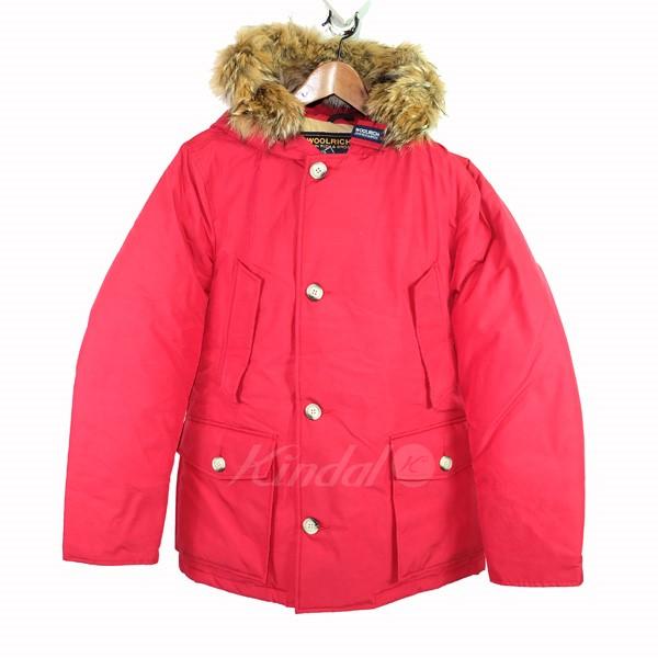 【中古】Wool rich「ARCTIC PARKA」ダウンジャケット レッド サイズ:M 【5月11日見直し】