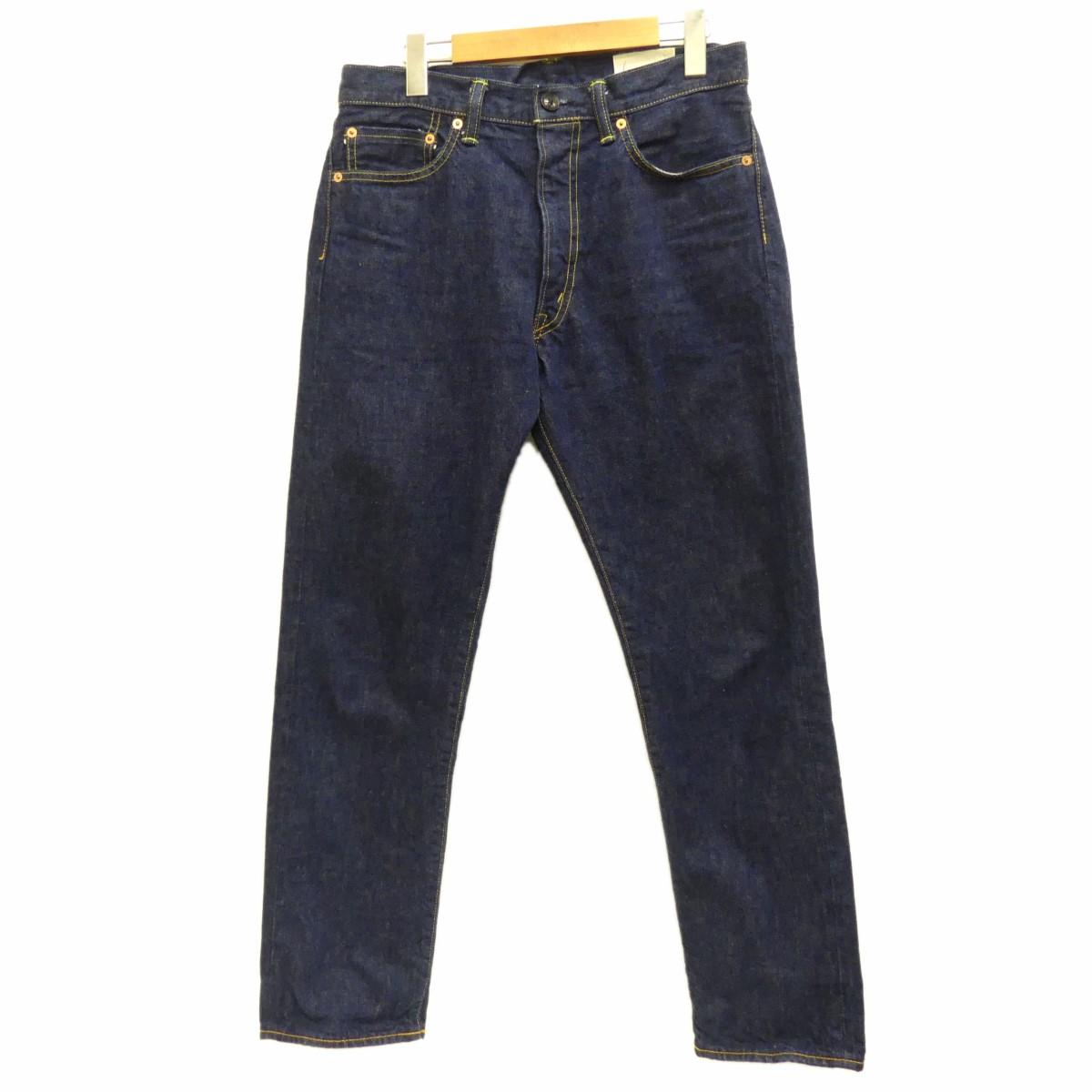 【中古】cantate2019A/W Denim tapered Trousers テーパードデニム インディゴ サイズ:30 【3月30日見直し】