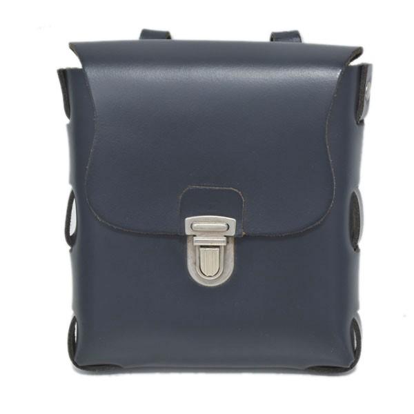 マーティン ローズ 【中古】MARTINE ROSE レザーウエストバッグ Classic Leather Belt Bag ネイビー 【231119】(マーティン ローズ)