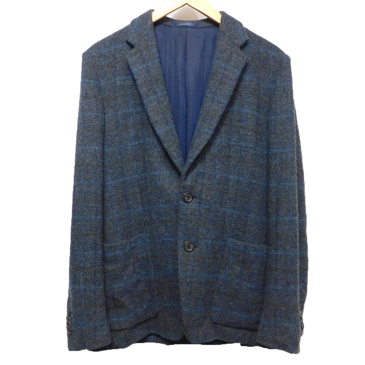 【中古】Paul Smith LONDON 15AW MOON TWEED CHECK チェックジャケット グレー×ブルー サイズ:M 【221119】(ポールスミス)
