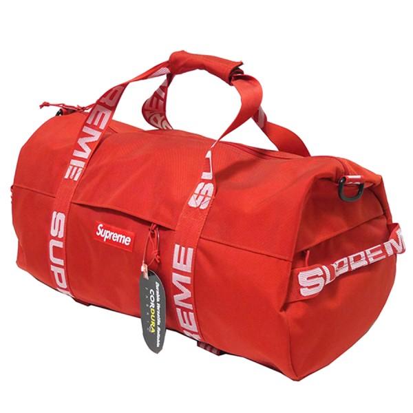 シュプリーム 【中古】SUPREME 2018SS Duffle Bag ダッフル バッグ ロゴ テープ レッド 【231119】(シュプリーム)