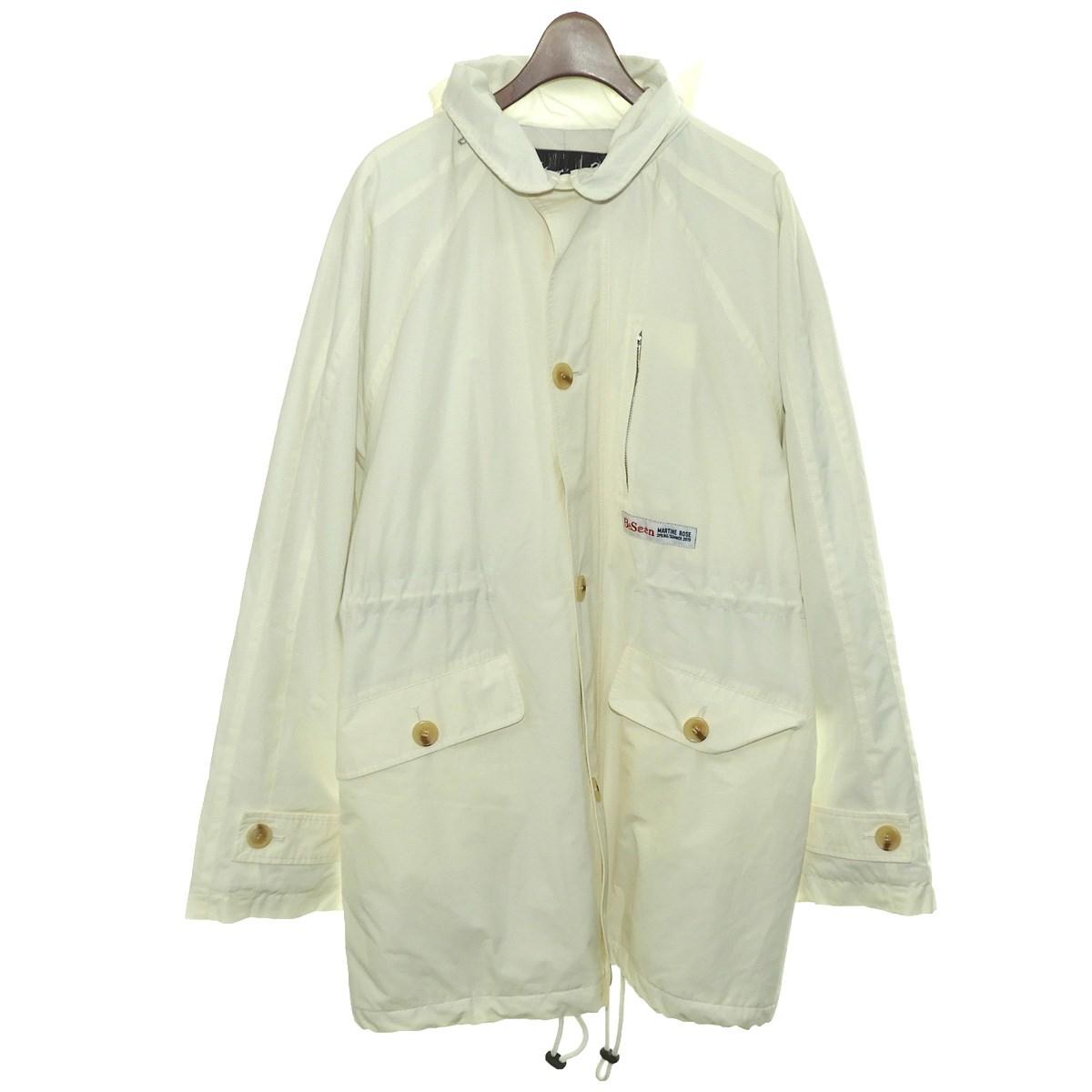 【中古】MARTINE ROSE19SS フーデッドコート ホワイト サイズ:S【2月6日見直し】
