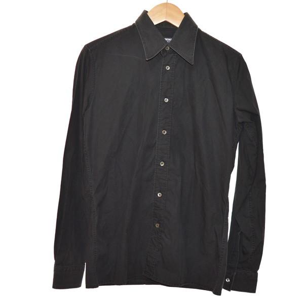 【中古】RAF SIMONS 2003AW CLOSER期 レギュラーシャツ ダークグレー サイズ:48 【271119】(ラフシモンズ)
