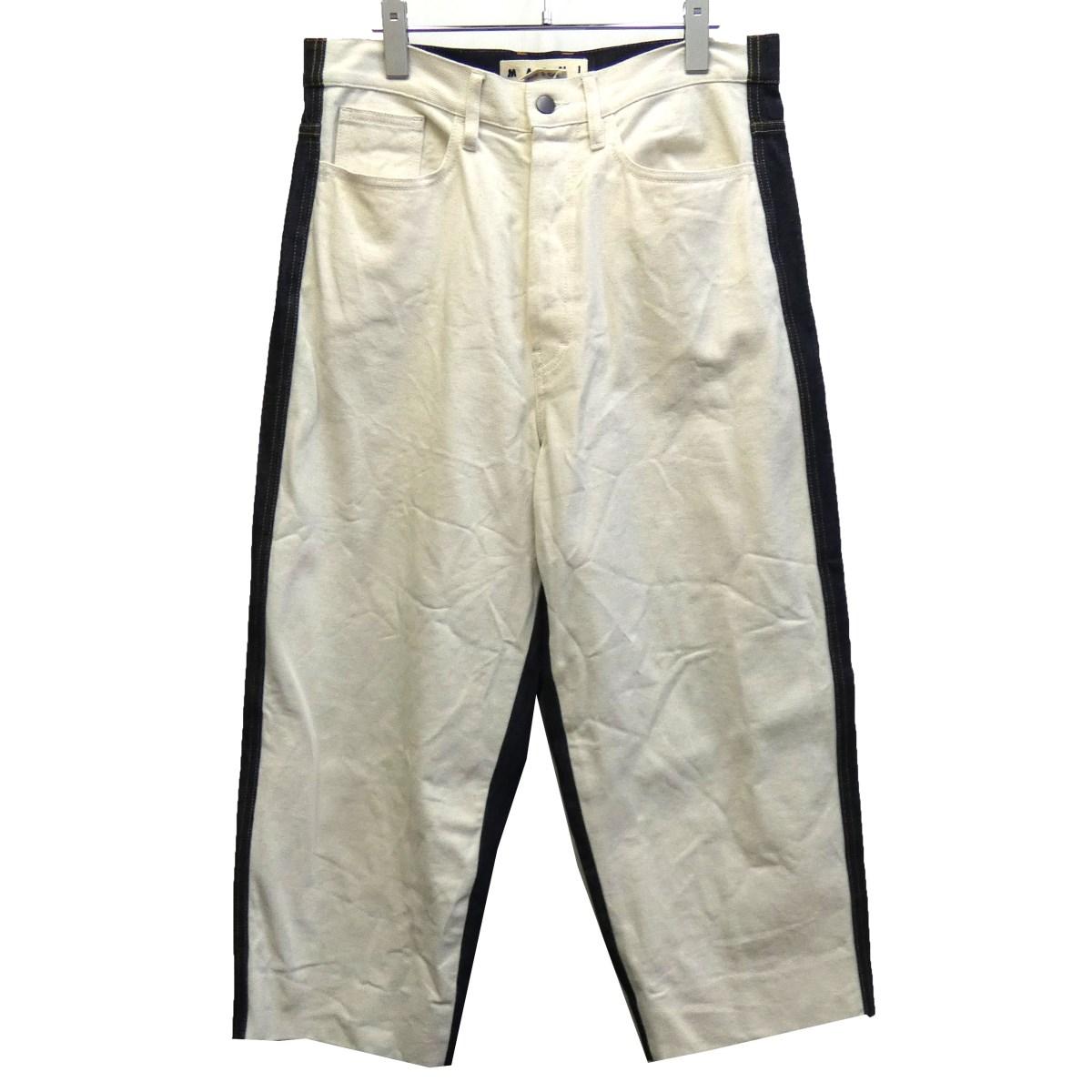 【中古】MARNI 16SS バイカラーデニムパンツ ホワイト×インディゴ サイズ:31 【271119】(マルニ)