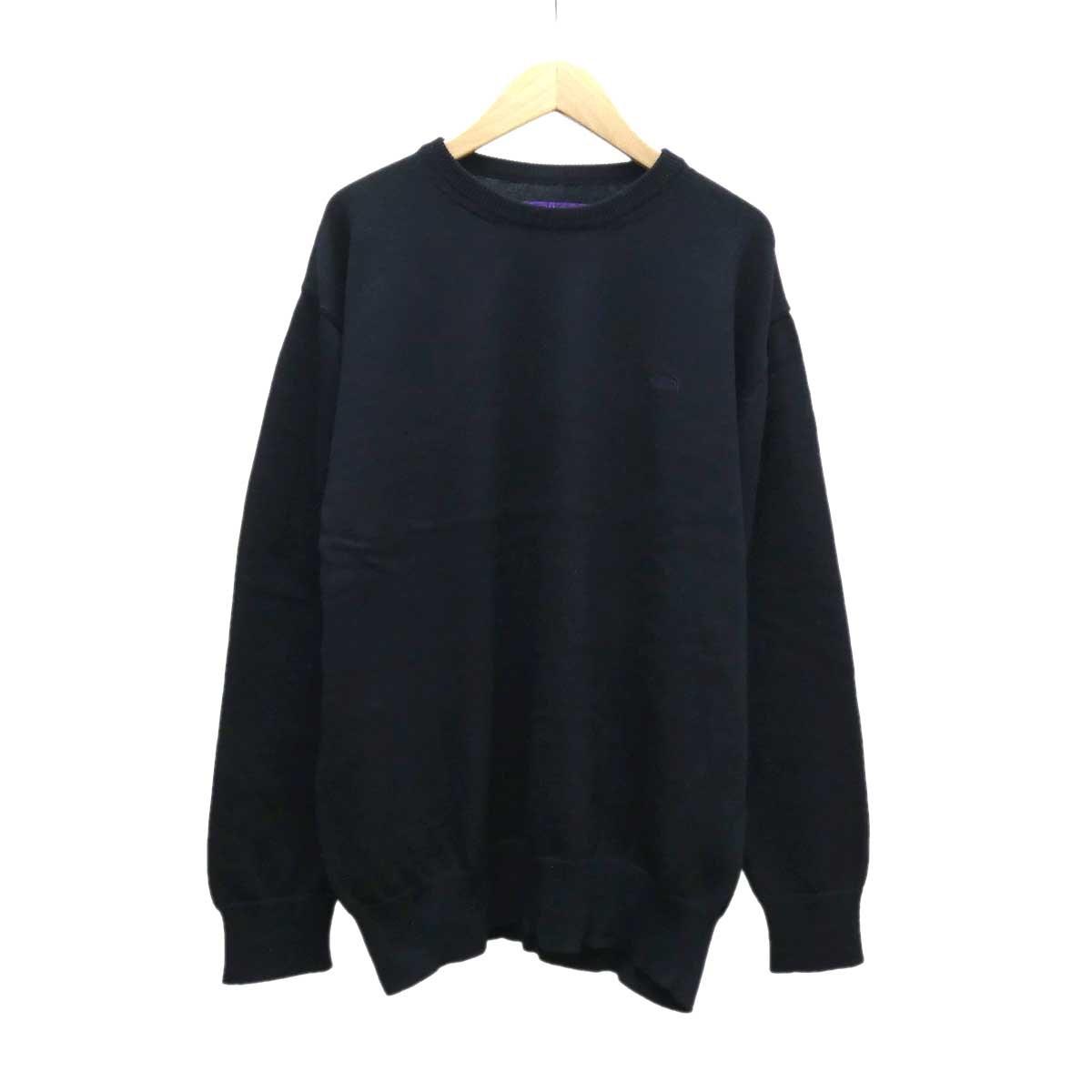 【中古】THE NORTH FACE PURPLE LABEL Pack Field Sweater エルボーパッチニット 【416257】 【KIND1884】