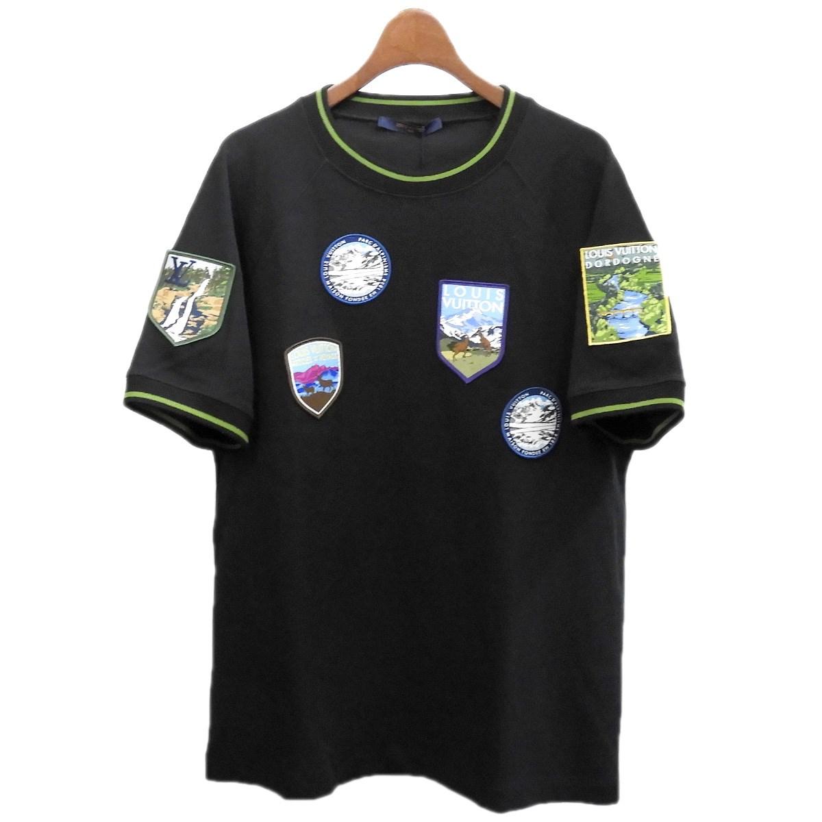 ルイヴィトン 【中古】LOUIS VUITTON ワッペンTシャツ ブラック サイズ:M 【011219】(ルイヴィトン)