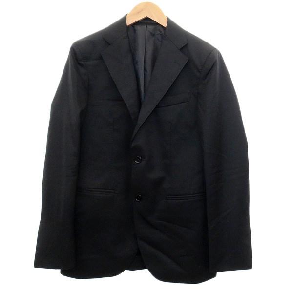 【中古】EDIFICE 【CFT 3B サージ J.P】段返り3Bテーラードジャケット ブラック サイズ:42 【011219】(エディフィス)