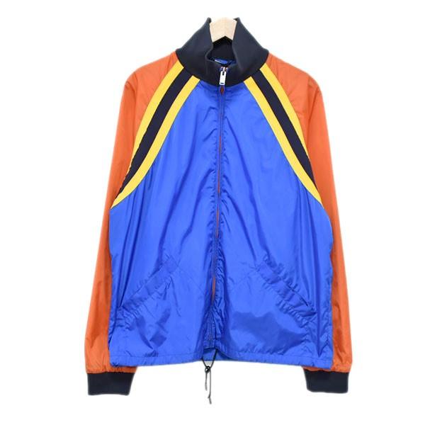 【中古】GUCCITIGER NYLON JACKET ナイロンジャケット ブルー サイズ:46 【4月23日見直し】