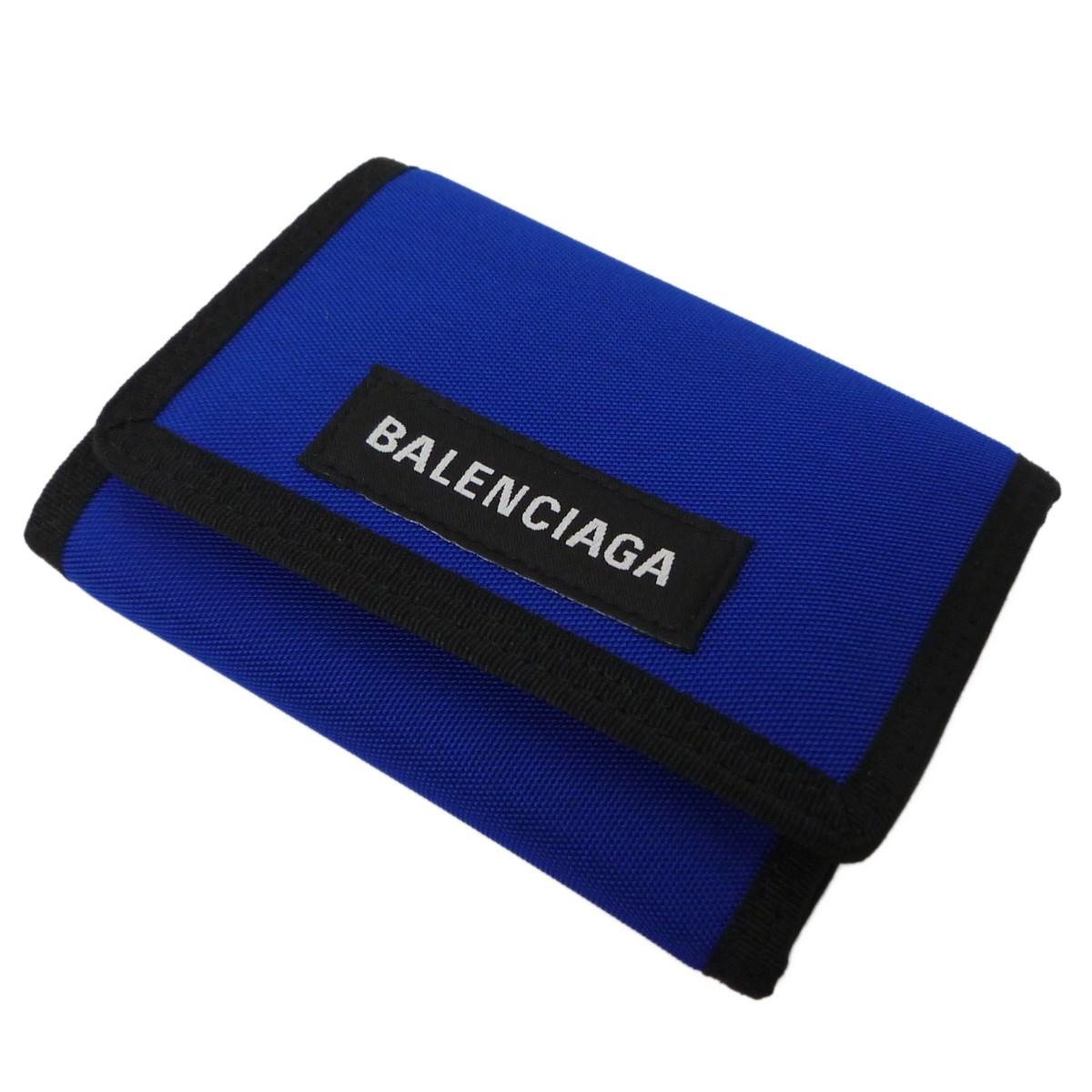 【中古】BALENCIAGA 「EXPLORER SQUARE COIN WALLET」エクスプローラースクエアコインをレット ブルー サイズ:- 【011219】(バレンシアガ)