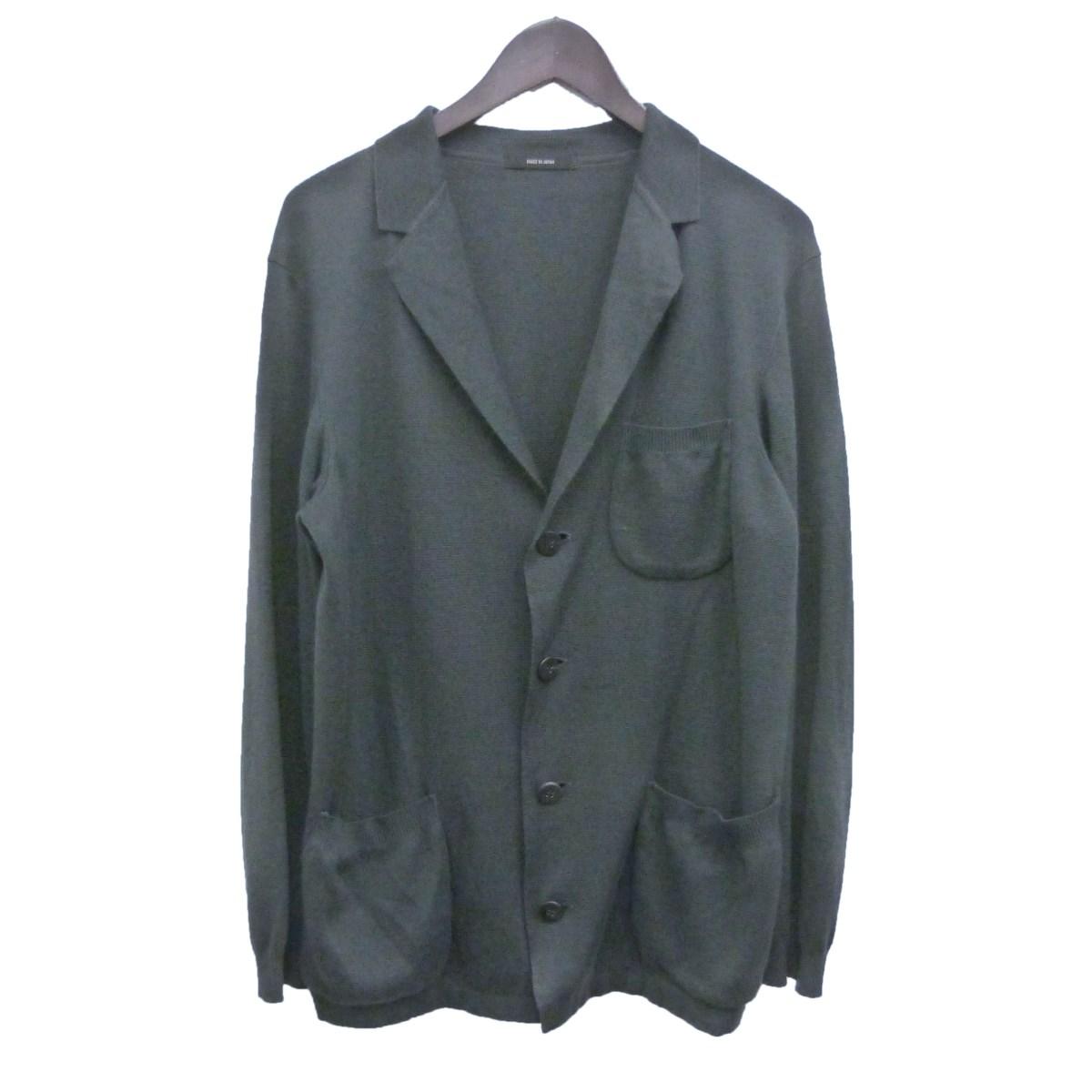 【中古】ISSEY MIYAKE MEN ニット4Bジャケット チャコールグレー サイズ:1 【031219】(イッセイミヤケメン)