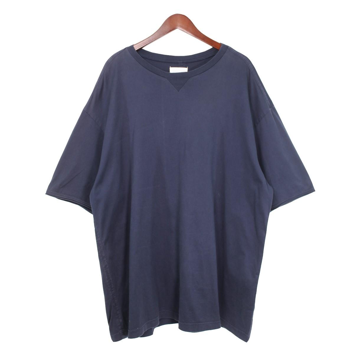 【中古】TAKAHIROMIYASHITA TheSoloIst. 18SS oversized crew neck s/s tee オーバーサイズTシャツ ネイビー サイズ:48 【031219】(タカヒロミヤシタザソロイスト)