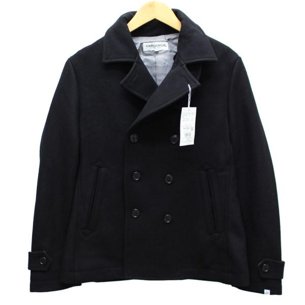 【中古】VANQUISH Pコート ピーコート ブラック サイズ:M 【031219】(ヴァンキッシュ)