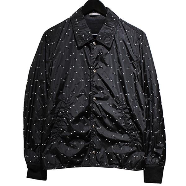 【中古】Dior Homme17AW GINZA SIX OPEN記念限定 刺繍ナイロンジャケット ブラック サイズ:44【1月30日見直し】