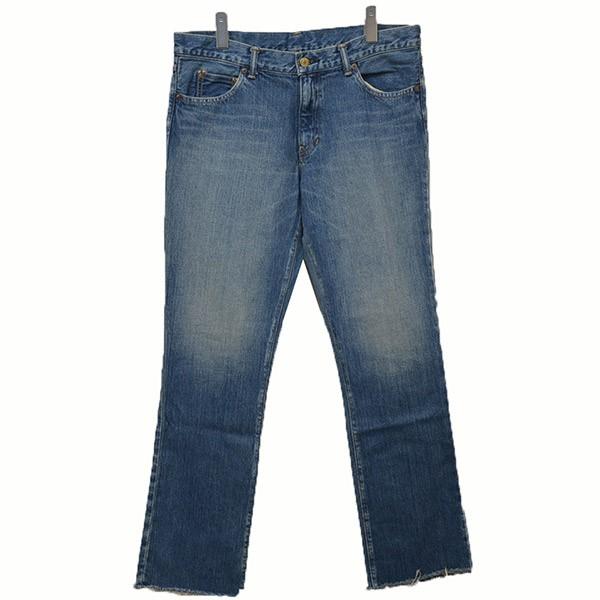 【中古】jonnlynxカットオフデニム デニム ジーンズ パンツ ライトインディゴ サイズ:34【2月3日見直し】