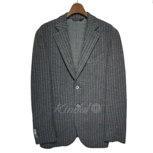 【中古】L.B.M.1911 ストライプテーラードジャケット グレー サイズ:- 【041219】(エルビーエム)