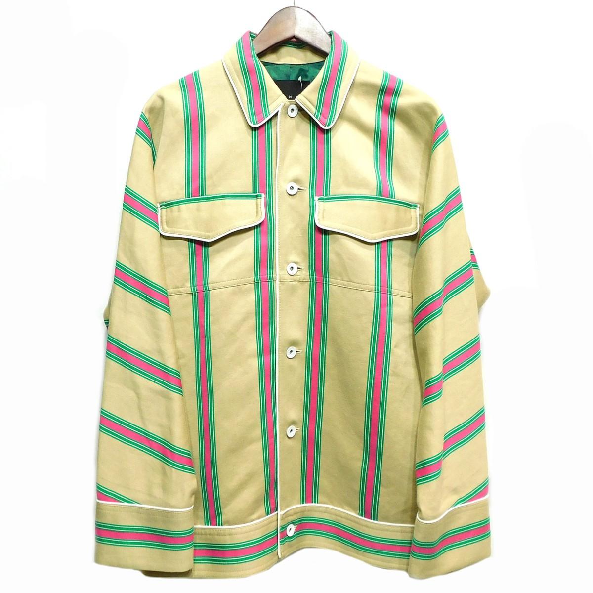 【中古】CINOH 19SS ストライプジャケット ベージュ サイズ:40 【041219】(チノ)