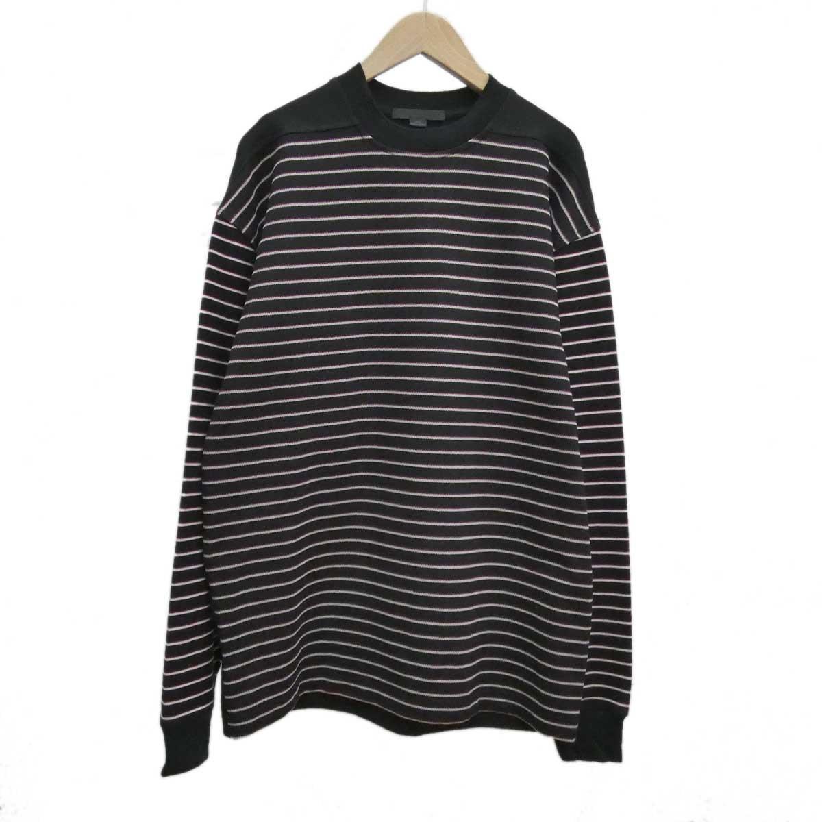 【中古】ALEXANDER WANG ボーダー長袖Tシャツ ブラック サイズ:XS 【051219】(アレキサンダーワン)
