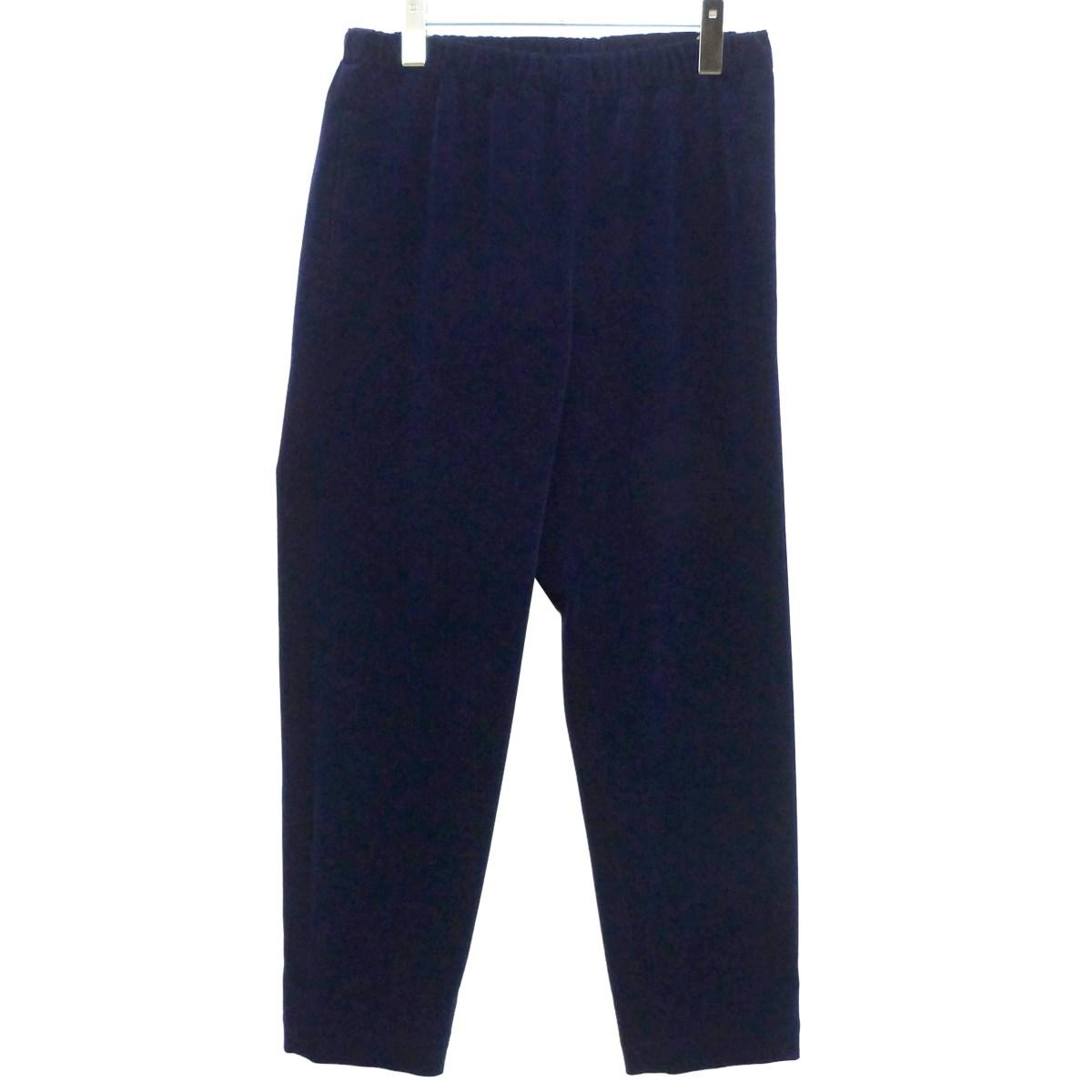 【中古】COMME des GARCONS 18AWベロアパンツ ブルー サイズ:S 【051219】(コムデギャルソン)