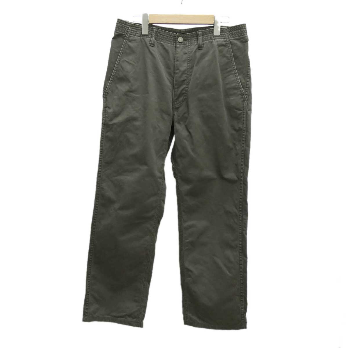 【中古】SASSAFRAS Sprayer Pants コットンパンツ カーキ サイズ:M 【051219】(ササフラス)
