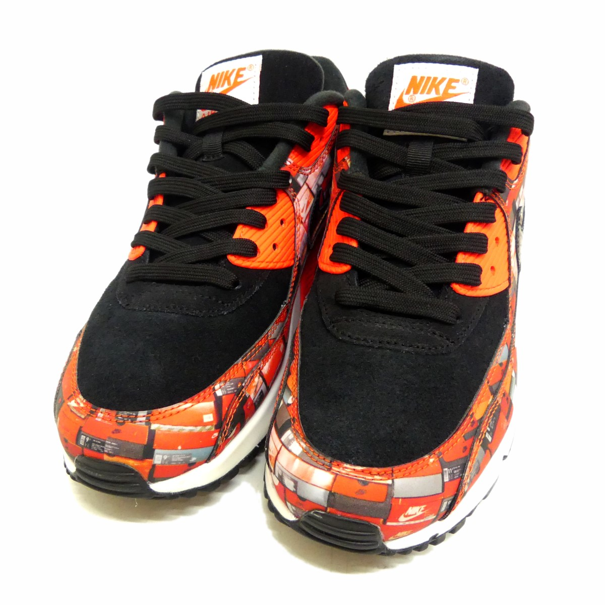 NIKE AIR MAX 90 PRNT sneakers red X black size: 26. 5cm (Nike)