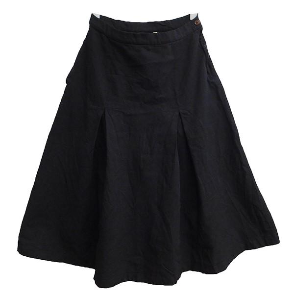 【中古】COMME des GARCONS COMME des GARCONS ポリ縮絨フレアスカート ブラック サイズ:S 【071219】(コムデギャルソンコムデギャルソン)