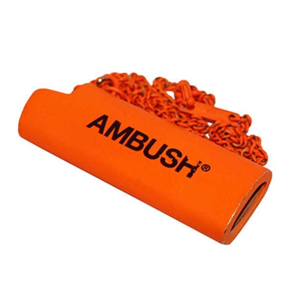 【中古】AMBUSH ロゴライターケースネックレス アクセサリー ハロウィン限定 オレンジ サイズ:- 【071219】(アンブッシュ)