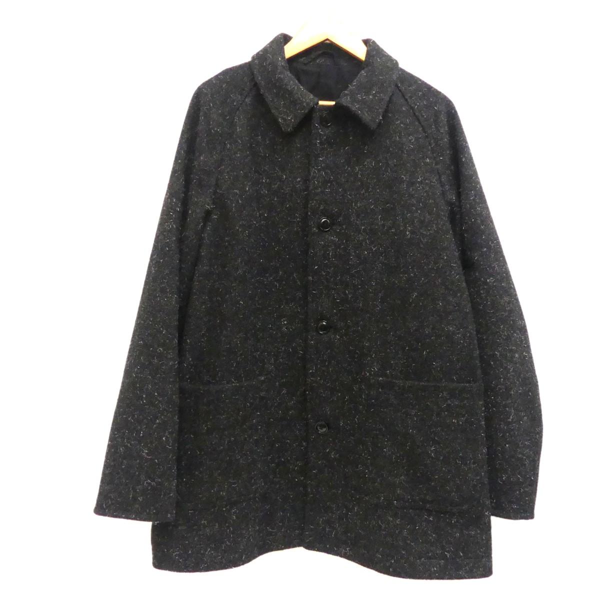 【中古】nest Robe CONFECT 2018AW Kemp Melton Soutien Collar Coat メルトンコート ブラック サイズ:3 【081219】(ネストローブコンフェクト)