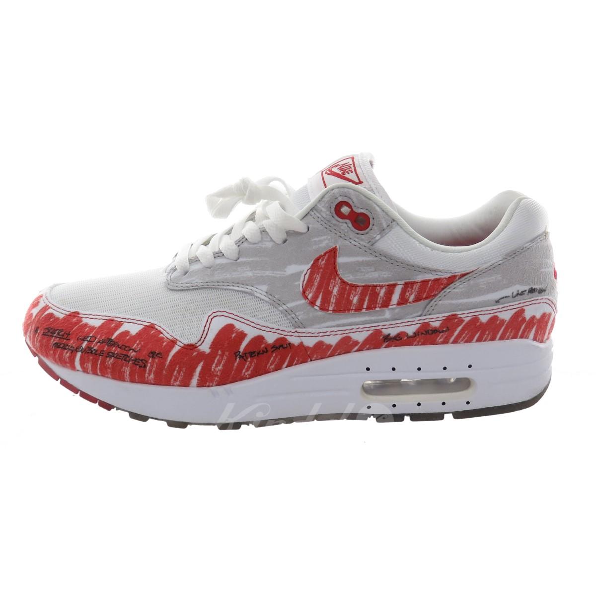 NIKE AIR MAX 1 SKETCH TO SHELF sneakers CJ4286 101 white X red size: 28. 5cm (Nike)