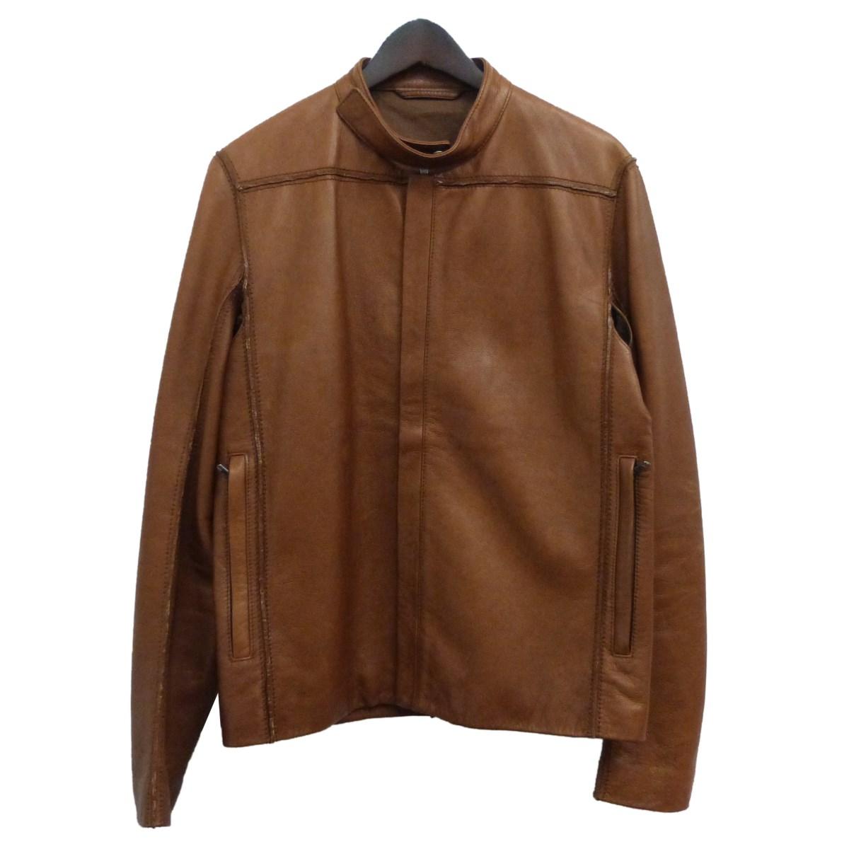 【中古】Martin Margiela 10 11SSレザージャケット ブラウン サイズ:48 【081219】(マルタンマルジェラ10)
