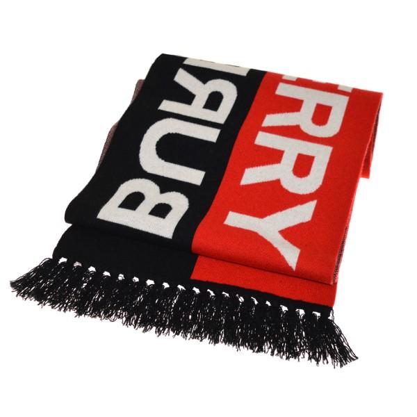 バーバリー 中古 交換無料 市販 BURBERRYストライプカシミヤスカーフ ブラック×レッド 11月23日見直し サイズ:-