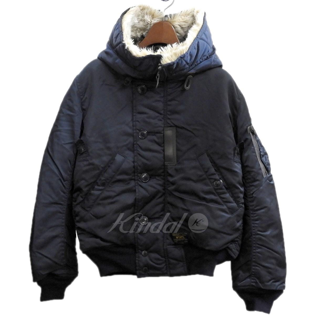 【中古】WTAPS2013AW 「N-2B」N-2Bジャケット ネイビー サイズ:S【2月6日見直し】