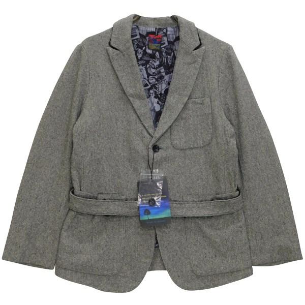 【中古】BRU NA BOINNEナイトジャケット ヘリンボーン ツイード シルク混 5283 ライトグレー サイズ:0【1月20日見直し】