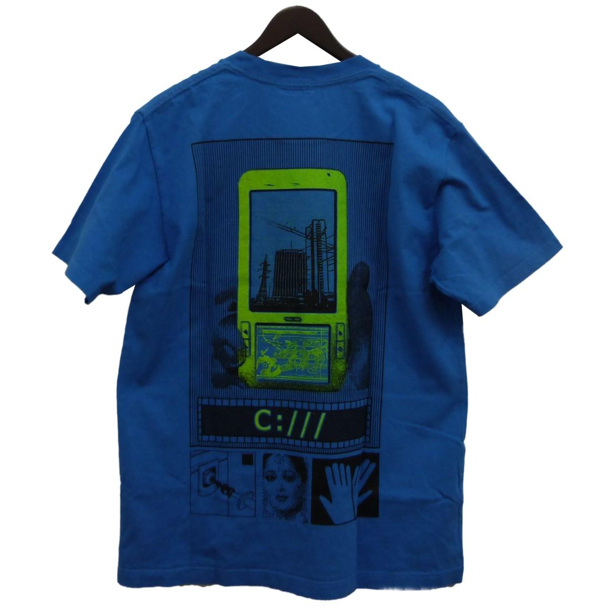 【中古】C.E 「OVERDYE C:///T」Tシャツ ブルー サイズ:M 【131219】(シーイー)