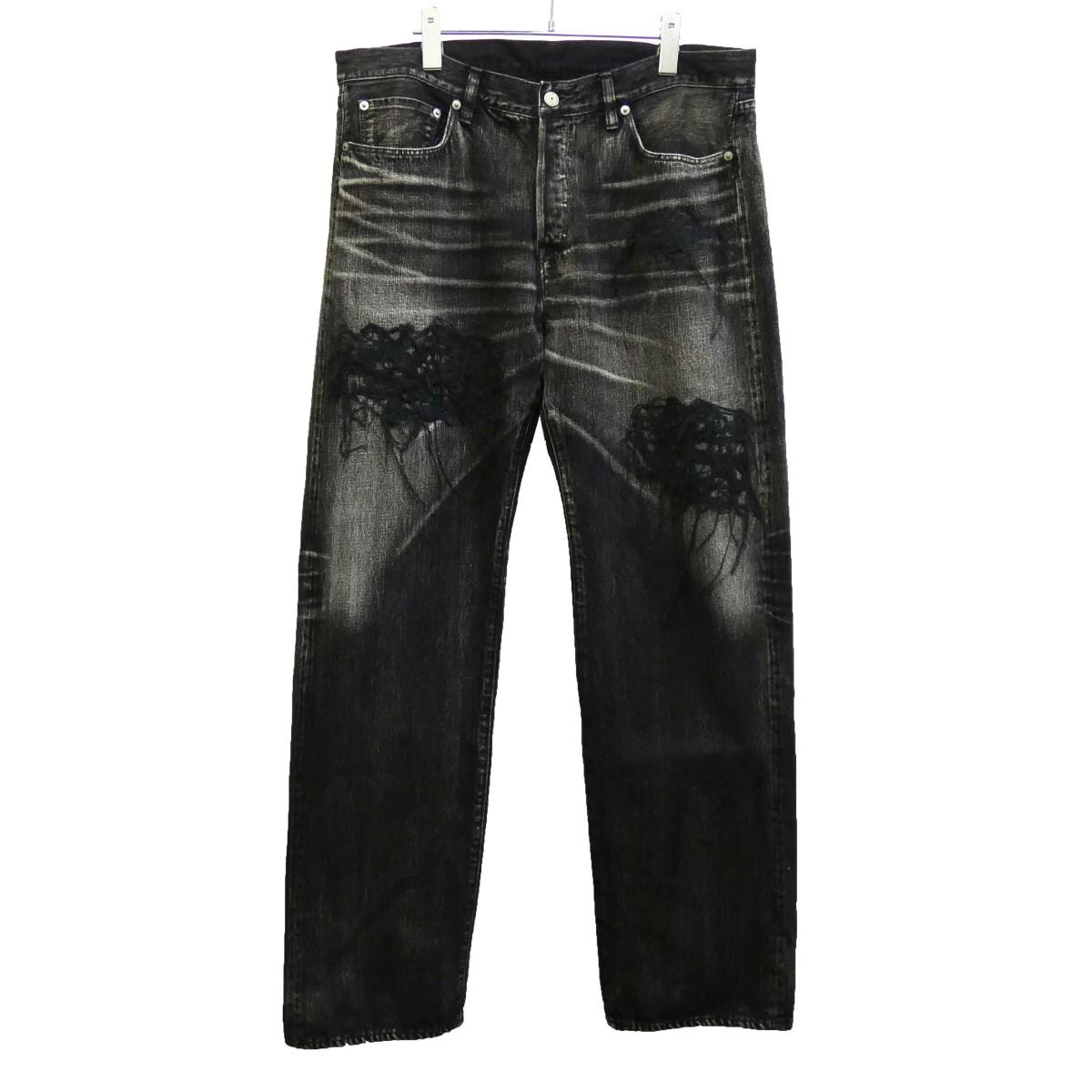 【中古】YOHJI YAMAMOTO pour homme 19SS デザインデニムパンツ ブラック サイズ:4 【131219】(ヨウジヤマモトプールオム)