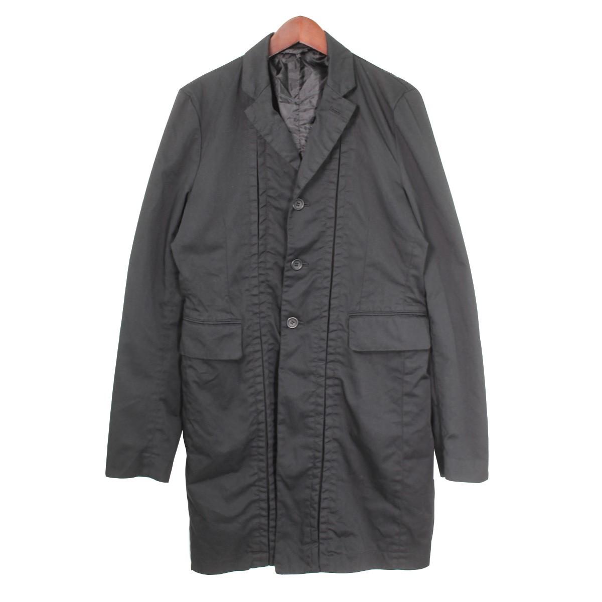 【中古】BLACK COMME des GARCONS16SS テーラード3Bロングジャケット ブラック サイズ:M 【3月30日見直し】