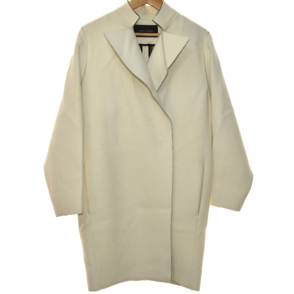 【中古】CEDRIC CHARLIER コート ホワイト サイズ:38 【141219】(セドリック シャルリエ)
