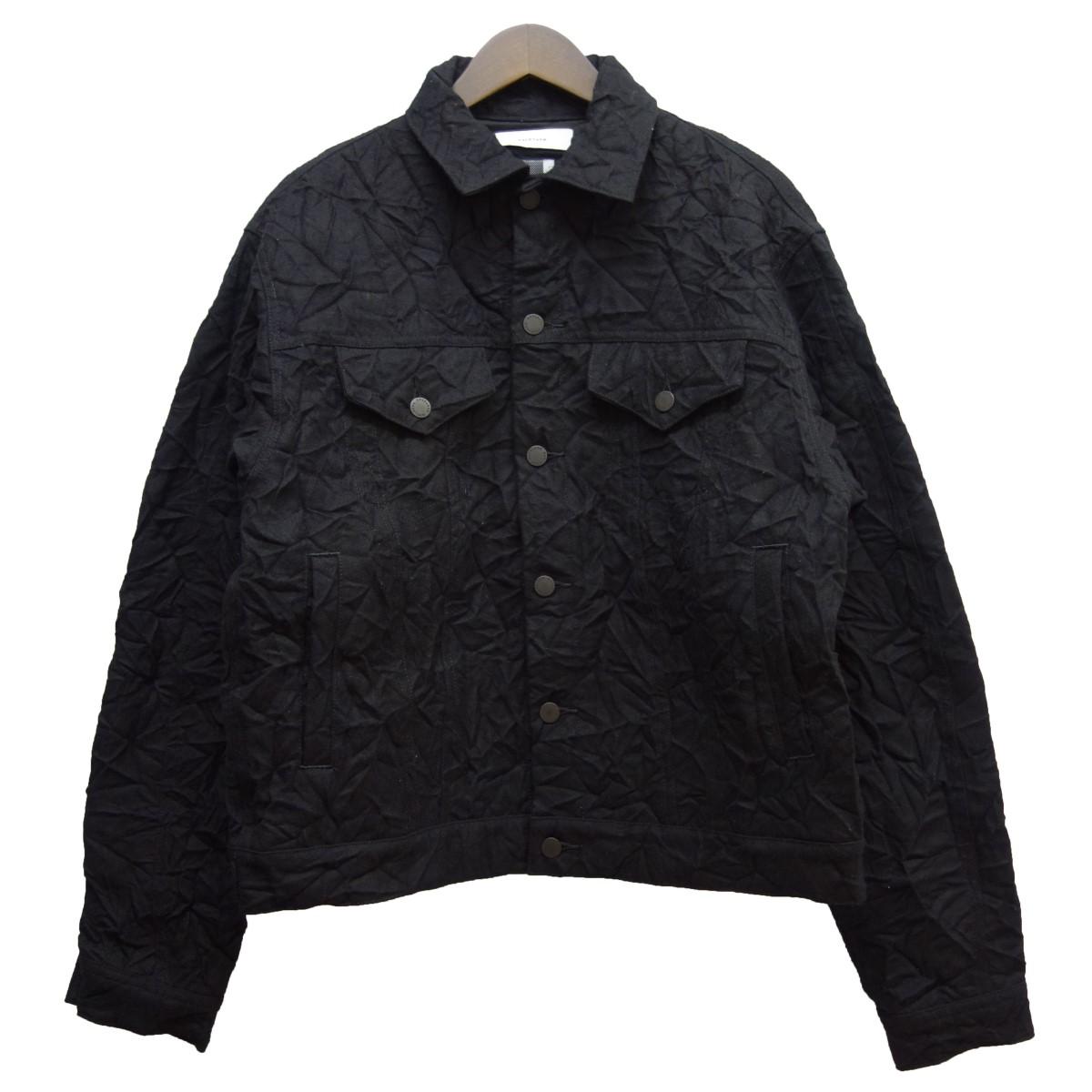 【中古】FACETASM18AW シワ加工ジャケット ブラック サイズ:4 【3月30日見直し】
