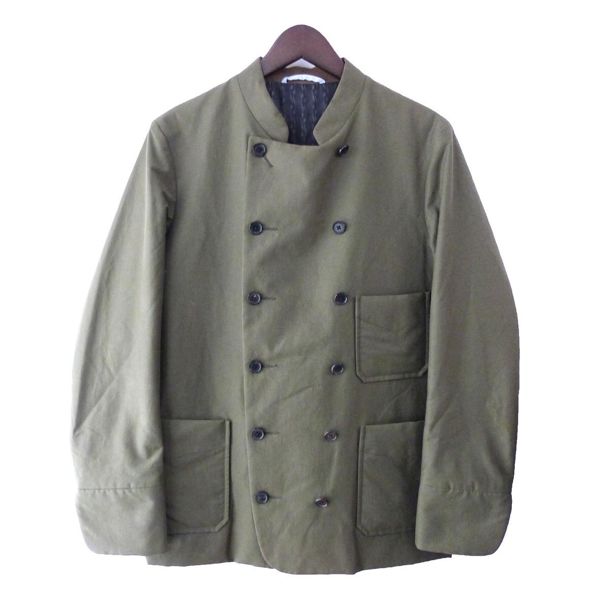 【中古】kenneth field 「Cook Jacket」 コックジャケット オリーブ サイズ:S 【151219】(ケネスフィールド)