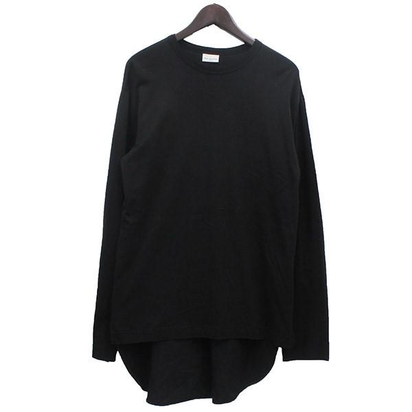 【中古】DRIES VAN NOTEN シャツ切替 ロングスリーブTシャツ ブラック サイズ:S 【151219】(ドリスヴァンノッテン)