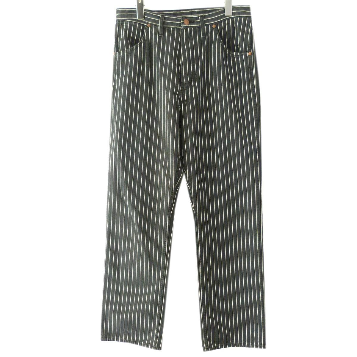 【中古】UNUSED 「12oz stripe denim pants」ストライプデニムパンツ ブラック サイズ:2 【161219】(アンユーズド)