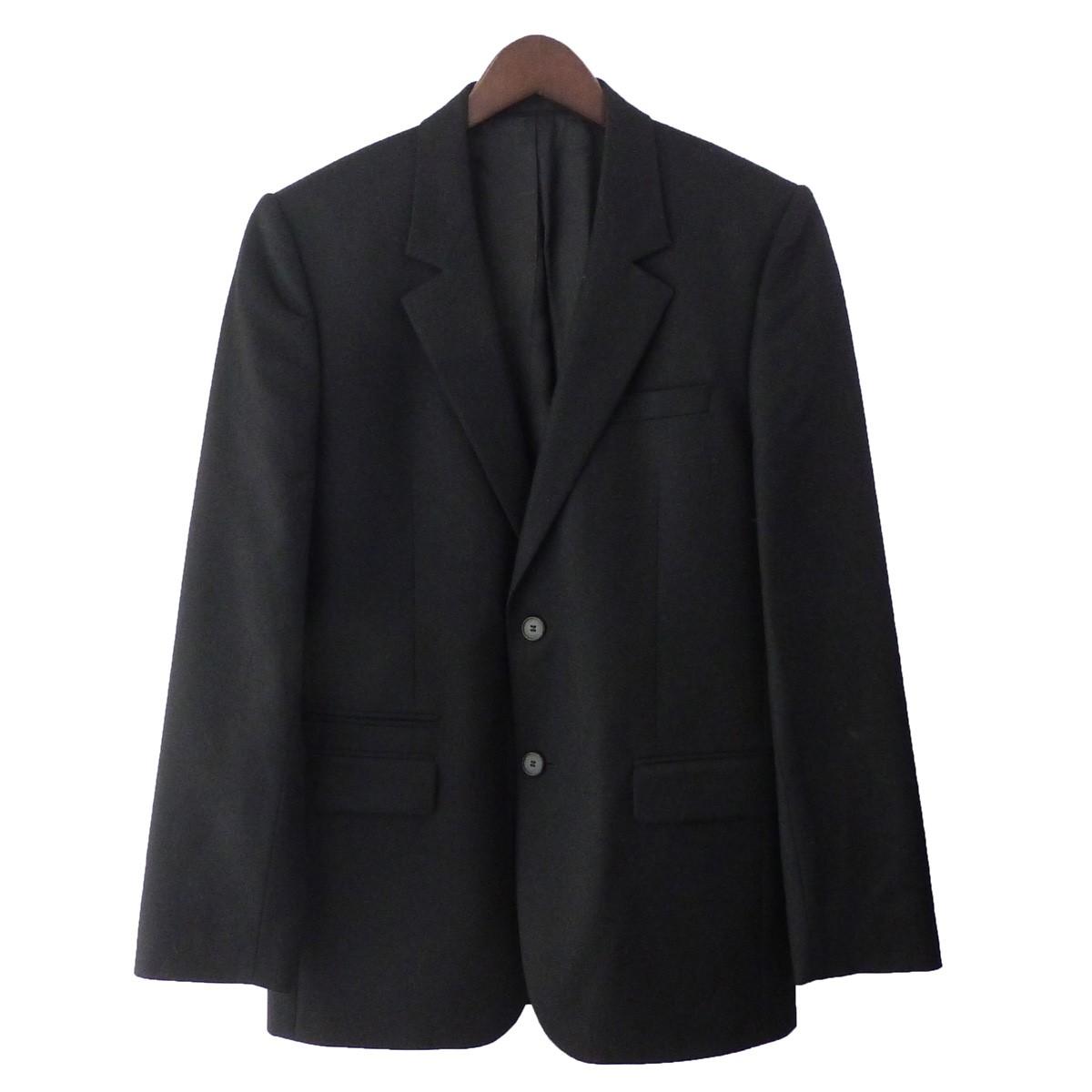 【中古】GIVENCHY ノッチドラペル2Bジャケット ブラック サイズ:46 【161219】(ジバンシィ)