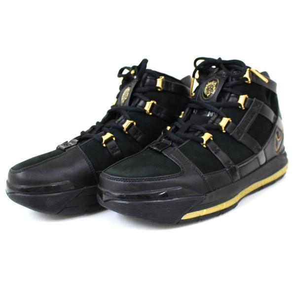 【中古】NIKE ZOOM LEBRON 3 QS A02434-001 スニーカー シューズ ブラック、ゴールド サイズ:26.5cm 【161219】(ナイキ)