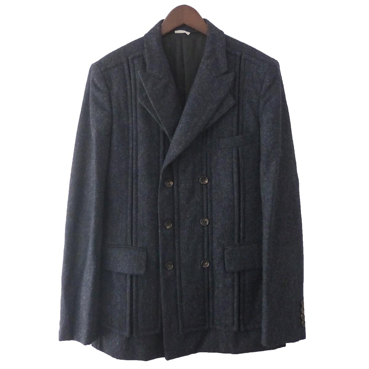 【中古】COMME des GARCONS HOMME DEUX 18AW ダブルプレストジャケット ネイビー サイズ:M 【201219】(コムデギャルソンオムドゥ)