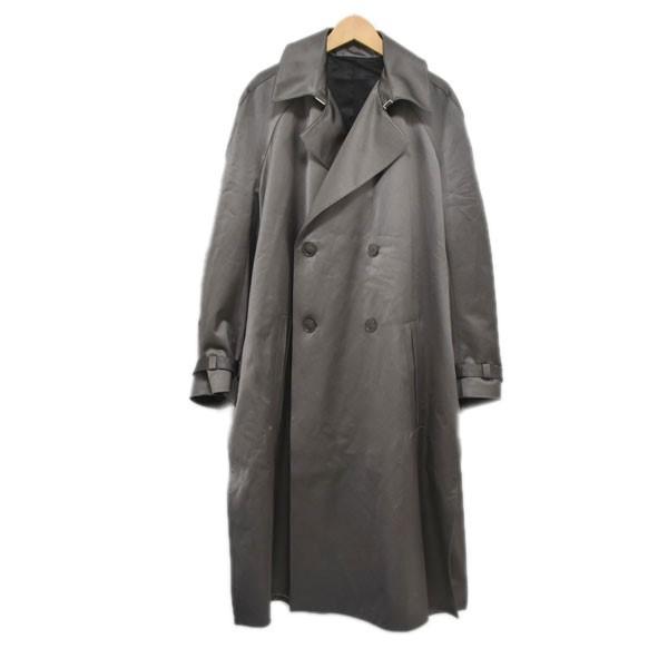 【中古】Dior サテントレンチコート 943C301A4698 グレー サイズ:42 【221219】(ディオール)