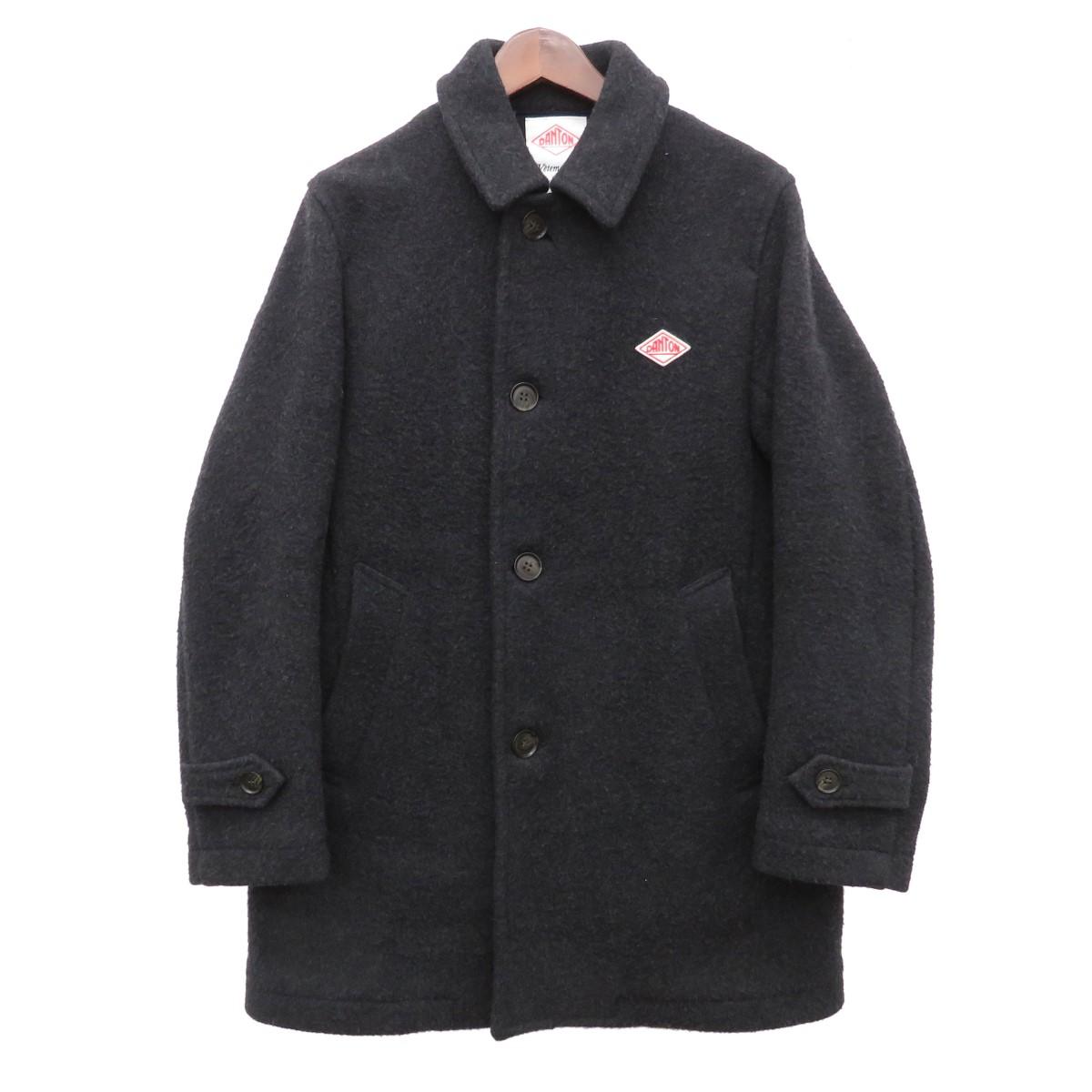 【中古】DANTON ウールモッサ シングルコート グレー サイズ:38 【221219】(ダントン)