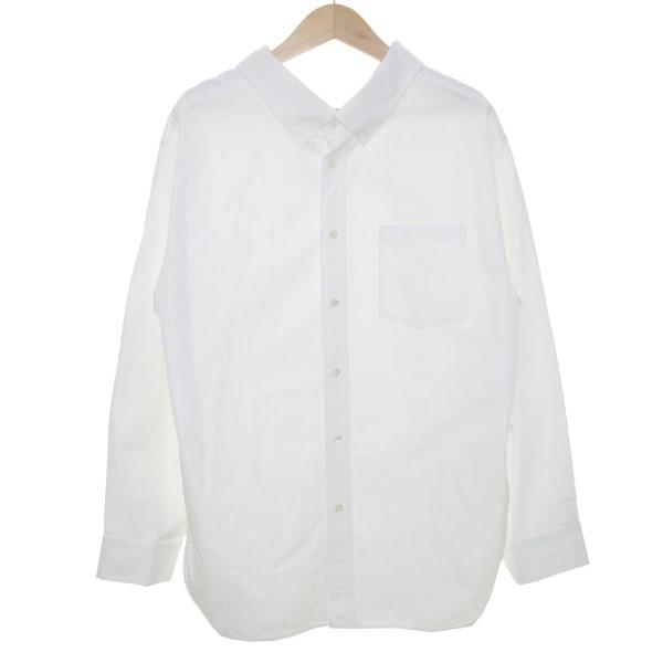 【中古】BALENCIAGA18SS スウィングカラーシャツ ホワイト サイズ:36