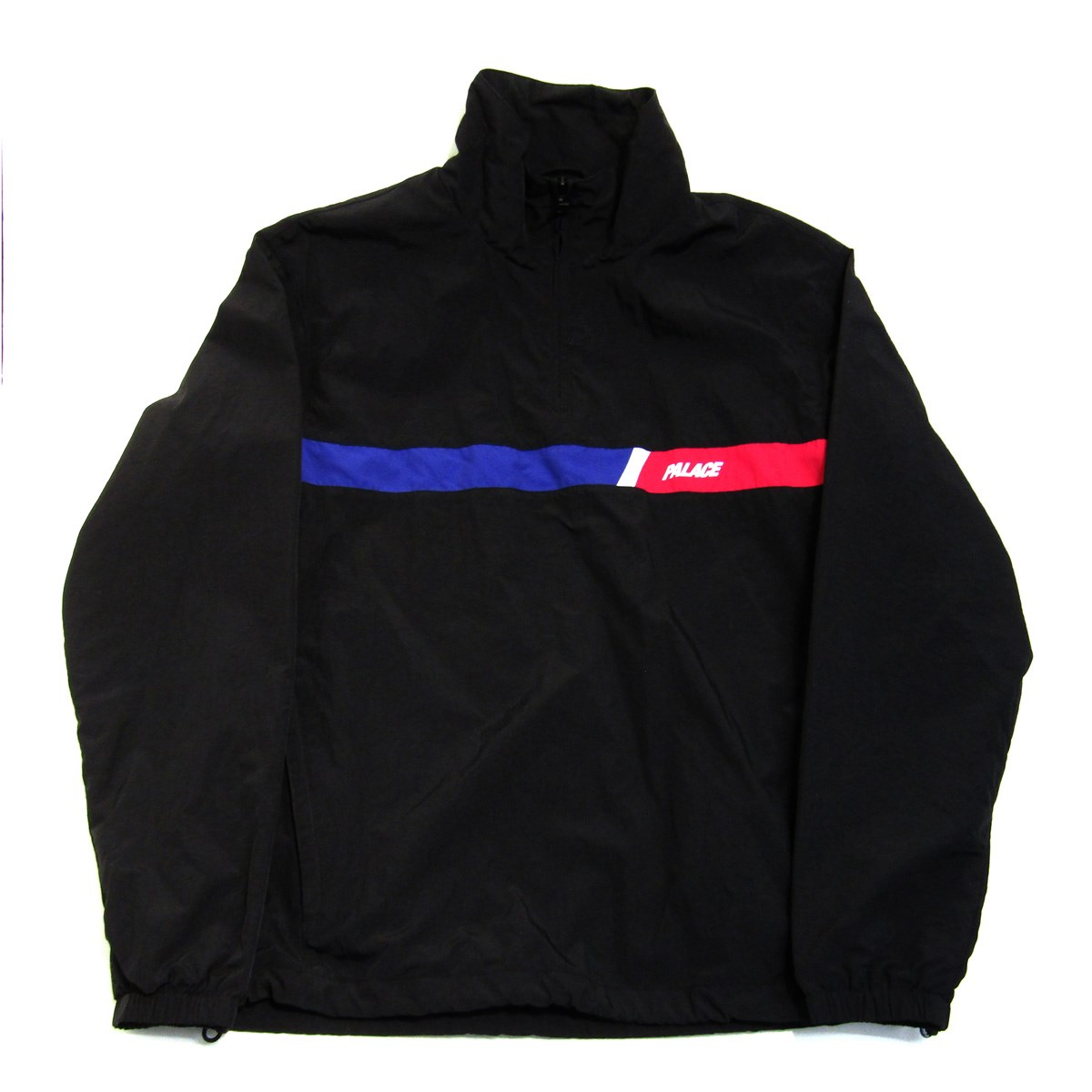 【中古】PALACE SLANT SHELL TOP ハーフジップナイロンジャケット ブラック サイズ:M 【241219】(パレス)
