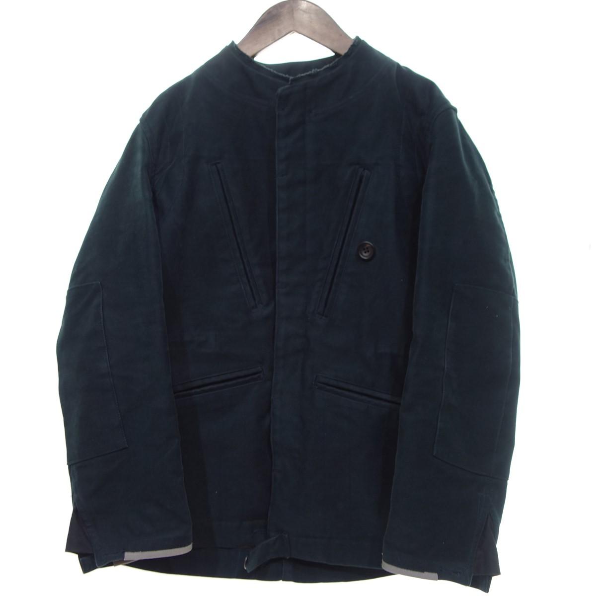 【中古】Quilp モールスキンノーカラージャケット ブラック サイズ:S 【251219】(クイルプ)