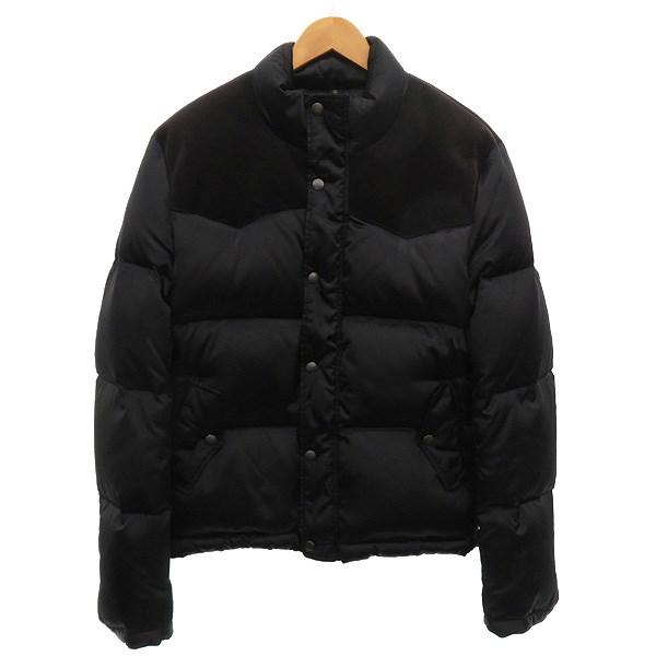 【中古】wjk コーデュロイ切替ダウンジャケット ブラック サイズ:L 【251219】(ダブルジェイケイ)